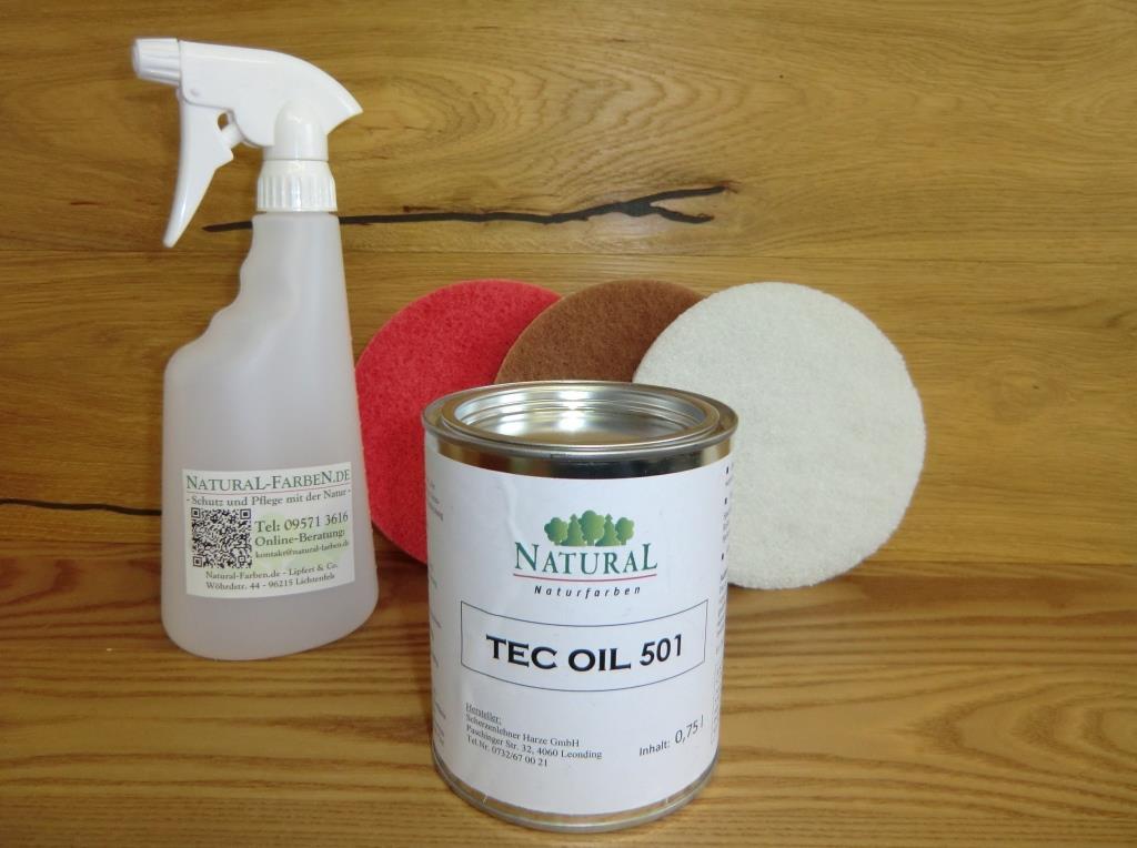 Tec Oil von Natural Naturfarben, zur Endpflege von sprapazierten Oberflächen