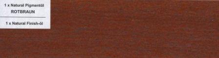 Pigmentöl Rotbraun von Natural Naturfarben