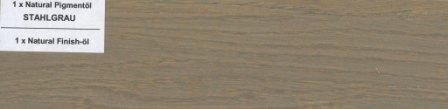 Pigmentöl Stahlgrau von Natural Naturfarben